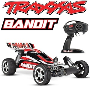 TRAXXAS Bandit 1/10 2WD RC Buggy RTR 2.4Ghz RED - 2405