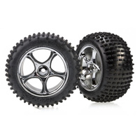 Traxxas 2470R: Alias 2.2 Tires & Tracer 2.2'' chrome wheels, assembled