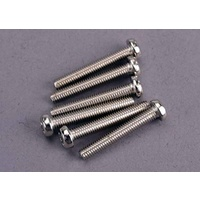 Traxxas 2566: Screws, 3x20mm roundhead machine (6)
