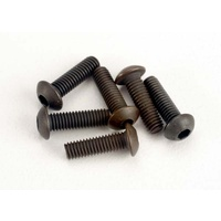 Traxxas 2577: Screws, 3x10mm button-head machine (hex drive) (6)