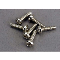 Traxxas 2675: Screws, 3x10mm roundhead self-tapping (6)