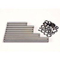 Traxxas 2739: Suspension pin set, stainless steel (w/ E-clips)