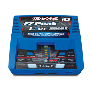 Traxxas 2973A: EZ-Peak® Live Dual 26+ amp NiMH/LiPo Fast Charger with iD