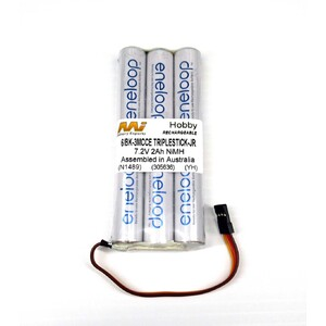 2000mah 7.2v Eneloop Hitec 9X replacement battery JR Plug