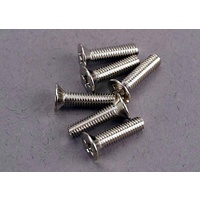 Traxxas 3178: Screws, 3x12mm countersunk machine (6)