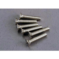 Traxxas 3179: Screws, 3x15mm countersunk machine (6)