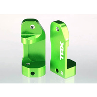 Traxxas 3632G: Caster blocks, 30-degree, green-anodized 6061-T6 aluminum (L&R)/ suspension screw pin (2)