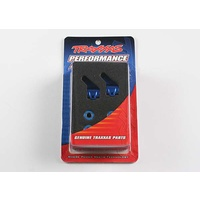 Traxxas 3636A: Steering blocks (2), 6061-T6 aluminum (blue-anodized)/ 5x11mm ball bearings (4)