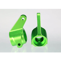 Traxxas 3636G: Steering blocks (2), 6061-T6 aluminum (green-anodized)/ 5x11mm ball bearings (4)