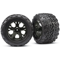 Traxxas 3669A: Tires & wheels, assembled, glued (2.8'')
