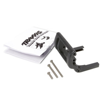 Traxxas 3677: Wheelie bar mount (1)/ hardware (black)