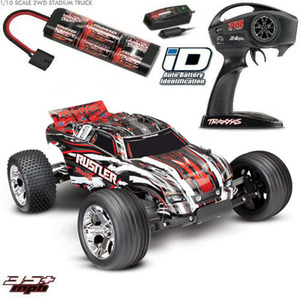 TRAXXAS RUSTLER 1/10 2WD EP STADIUM TRUCK RTR - 37054-1 (Red)