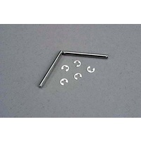 Traxxas 3740:  Suspension pins, 2.5x31.5mm (king pins) w/ E-clips (2) (strengthens caster blocks)