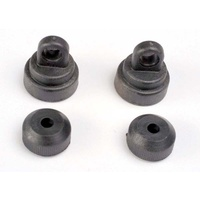 Traxxas 3767: Shock caps (2)/ shock bottoms (2)