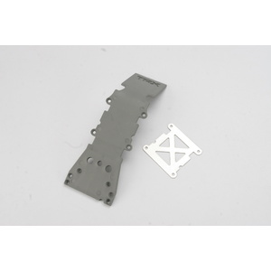 TRAXXAS Skidplate, front plastic (grey)/ stainless steel plate #4937A