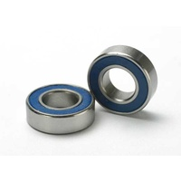 Traxxas 5118: Ball bearings, blue rubber sealed (8x16x5mm) (2)