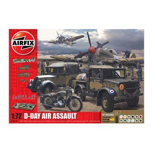 Airfix  A50157A D-Day Air Assault Set Scale 1:72 Model