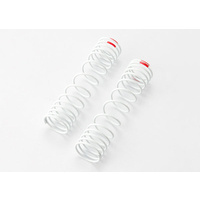 Traxxas 5859: Springs, rear (white) (progressive rate) (2) (fits #5862 aluminum Big Bore shocks)