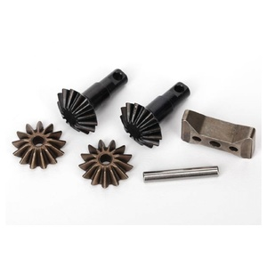 Traxxas 6882X: Gear set, differential (output gears (2)/ spider gears (2)/ spider gear shaft, carrier support)