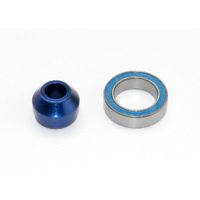 Traxxas 6893X: Bearing adapter, 6160-T6 aluminum (blue-anodized)