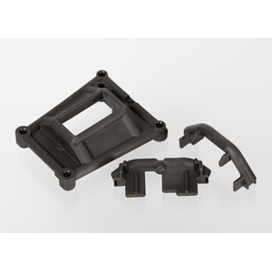 Traxxas 6921: Chassis braces (front and rear)/ servo mount