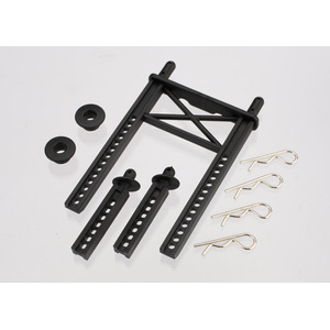 Traxxas 7315: Body mount, rear/ body mount posts, front (2)/body washer, rear (2) (for Fiesta/Rally body)