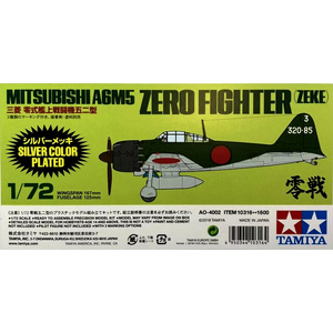Tamiya #10316 Mitsubishi A6M5 Zero Fighter (Zeke) Silver Color Plated 1/72
