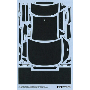 Tamiya Subaru BRZ Carbon Pattern Decal Set 1:24 Scale Model Detail-Up Parts Series no.58 #12658