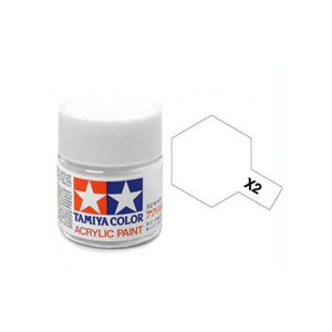 Tamiya #81502 - Acrylic Mini Paint X-2 White 10Ml Bottle