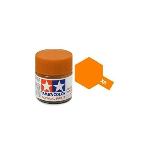 Tamiya #81506 - Acrylic Mini Paint X-6 Orange 10ML Bottle