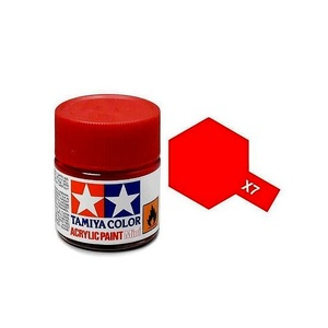 Tamiya #81507 - Acrylic Mini Paint X-7 Red 10Ml Bottle