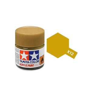 Tamiya #81512 - Acrylic Mini Paint X-12 Gold Leaf 10Ml Bottle