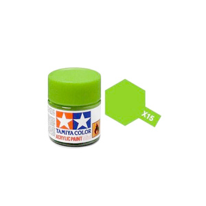 Tamiya #81515 - Acrylic Mini Paint X-15 Light Green 10Ml Bottle