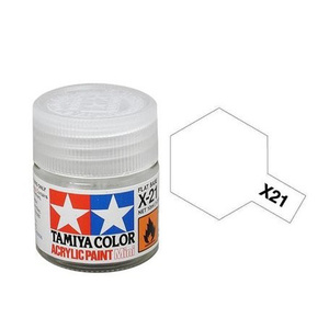 Tamiya #81521 - Acrylic Mini Paint X-21 Flat Base 10Ml Bottle