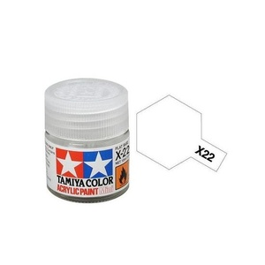 Tamiya #81522 - Acrylic Mini Paint X-22 Clear 10Ml Bottle