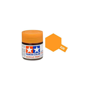 Tamiya #81526 - Acrylic Mini Paint X-26 Clear Orange 10Ml Bottle