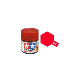Tamiya #81527 - Acrylic Mini Paint X-27 Clear Red 10Ml Bottle