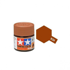 Tamiya #81534 - Acrylic Mini Paint X-34 Metallic Brown 10Ml Bottle