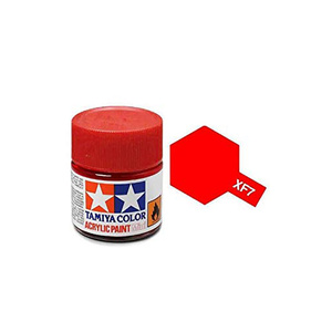 Tamiya #81707 - Acrylic Mini Paint Xf-7 Flat Red 10Ml Bottle