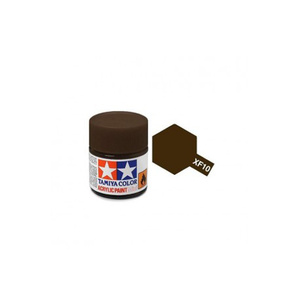 Tamiya #81710 - Acrylic Mini Paint Xf-10 Flat Brown 10Ml Bottle