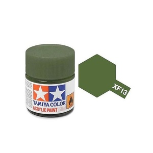Tamiya #81713 - Acrylic Mini Paint Xf-13 J.A. Green 10Ml Bottle