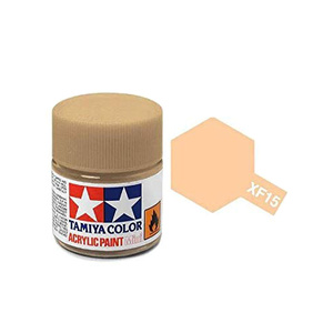 Tamiya #81715 - Acrylic Mini Paint Xf-15 Flat Flesh 10Ml Bottle