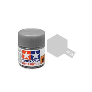 Tamiya #81716 - Acrylic Mini Paint Xf-16 Flat Aluminum 10Ml Bottle