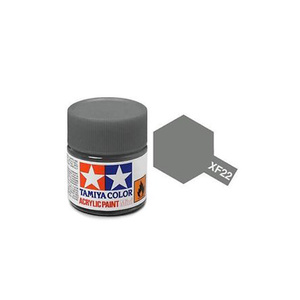 Tamiya #81722 - Acrylic Mini Paint Xf-22 Rlm Gray 10Ml Bottle