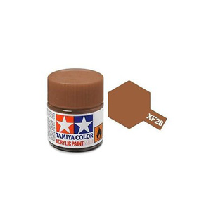 Tamiya #81728 - Acrylic Mini Paint Xf-28 Dark Copper 10Ml Bottle