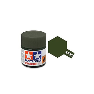 Tamiya #81758 - Acrylic Mini Paint Xf-58 Olive Green 10Ml Bottle