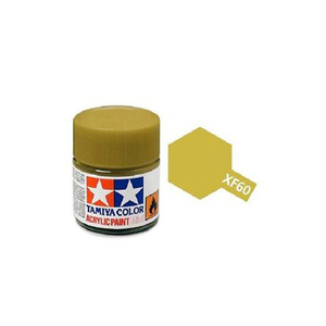 Tamiya #81760 - Acrylic Mini Paint Xf-60 Dark Yellow 10Ml Bottle