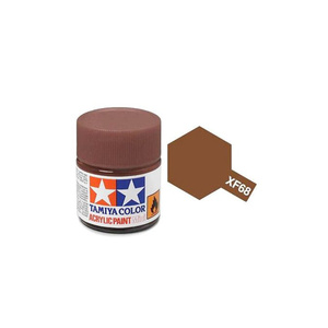 Tamiya #81768 - Acrylic Mini Paint Xf-68 Nato Brown 10Ml Bottle