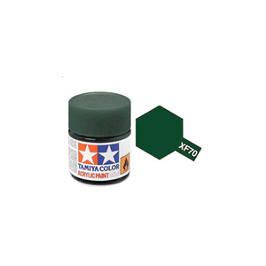 Tamiya #81770 - Acrylic Mini Paint Xf-70 Dark Green 2 10Ml Bottle