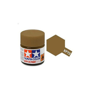 Tamiya #81772 - Acrylic Mini Paint Xf-72 Brown 10Ml Bottle